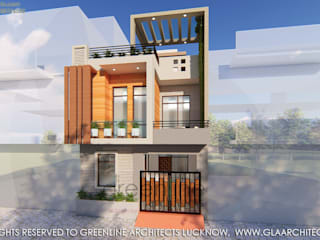 20X40 Feet, 800 sqft House Design with Interior Modern houses by greenline architects Modern