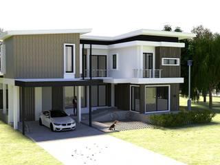 รับสร้างบ้าน 2 พร้อมเฟอร์นิเจอร์บิวท์อิน โดย Grit Build