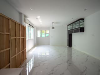 รีโนเวท ทุบเชื่อมอาคาร ปรับปรุงหน้าบ้านหลังบ้าน โดย Grit Build