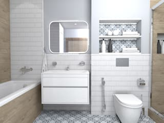 Scandinavian style bathroom by Prosvirnina Anna Scandinavian