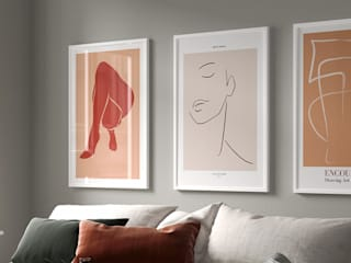 NORDIKA GALLERY TABLO POSTERLERİ – Salon için modern tablo: modern tarz , Modern
