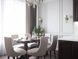 КЛАССИЧЕСКАЯ ГОСТИНАЯ С РОЯЛЕМ Коридор, прихожая и лестница в классическом стиле от Make My Flat Interiors Классический