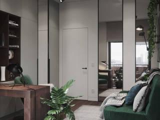 Кабинет с живыми растениями Рабочий кабинет в скандинавском стиле от Make My Flat Interiors Скандинавский