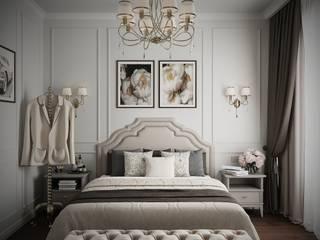 ЭЛЕГАНТНАЯ СПАЛЬНЯ В КЛАССИЧЕСКОМ СТИЛЕ Спальня в классическом стиле от Make My Flat Interiors Классический