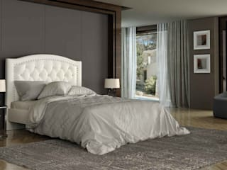 Quarto requintado e sofisticado em tons neutros Bedroom exquisite and sophisticated in neutral tones CAMA 10 https://www.intense-mobiliario.com/pt/camas-estofadas/15781-cama-10.html #quartos #quartosmodernos #mobiliariodequarto #bedroons #camas por Intense mobiliário e interiores Moderno