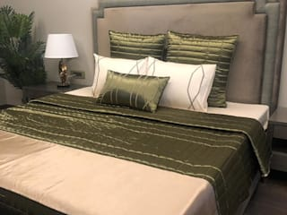 Adhvik Decor BedroomTextiles Textile Green
