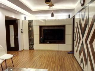 3BHK Interior Design Modern living room by HAMID PAWASKAR Modern