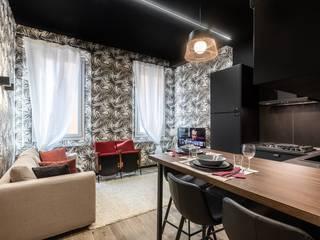 Borgonuovo Apartments _ The Black One Soggiorno moderno di Biondi Architetti Moderno