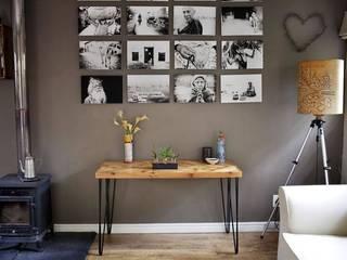 Herringbone Table with Hairpin Legs - Reclaimed Wood | Reclaim Design: modern  by Reclaim Design, Modern
