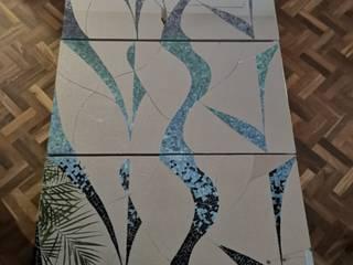 MKVidrio Stairs Glass Blue