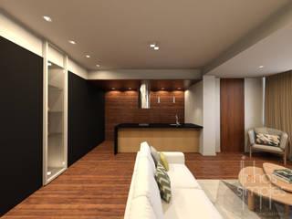 Linhas Simples Salas de estilo moderno