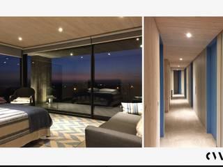 Casa B&B Aguadulce Dormitorios de estilo moderno de Carlos Mardones Arquitectos Moderno