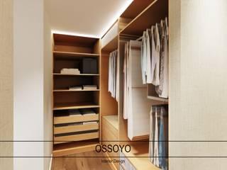 Moradia Ametista Closets modernos por Ossoyo Moderno