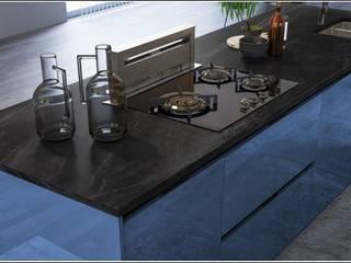 Cocinas y ARMARIOS Nicole KitchenCabinets & shelves Blue