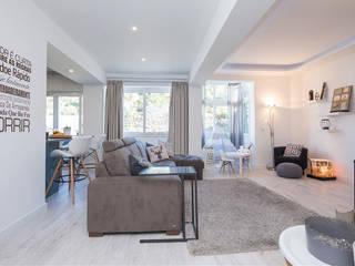 Apartamento T2 - Carnaxide - Home Project Salas de estar escandinavas por Acontece Design Solutions Escandinavo