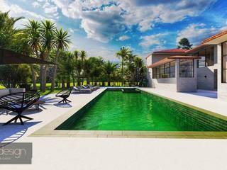 Casa Refúgio do Designer por Aadna.Design Moderno