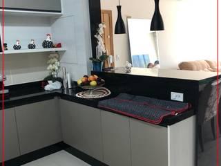 Cozinha sob medida Novais Mobiliário Armários e bancadas de cozinha MDF Preto
