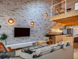 Casa Contemporânea Portuguesa Salas de estar industriais por Aadna.Design Industrial