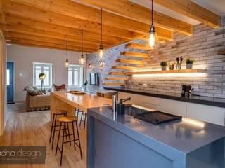 Cozinha open space Cozinhas industriais por Aadna.Design Industrial