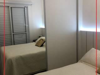 Dormitório Novais Mobiliário QuartoArmários MDF Efeito de madeira