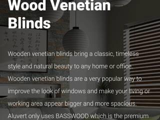 Wooden Venetian Blinds: modern  by Bespoke Blinds & Curtains Decor Studio, Modern