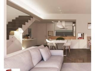 DUPLEX  B+R  - REFORMA COMPLETA Salas de estar minimalistas por Portal Reformas & Construção Minimalista