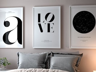 NORDIKA GALLERY TABLO POSTERLERİ – Siyah beyaz minimalist tablolar: minimalist tarz , Minimalist
