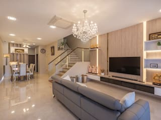 Project : 151 Onan Road Asian style living room by E modern Interior Design Asian
