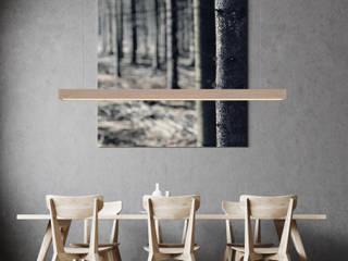 Modernes Esszimmer Lignalux EsszimmerBeleuchtungen Holz Braun