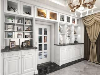新古典低調的優雅 經典風格的走廊,走廊和樓梯 根據 西雅圖設計 古典風