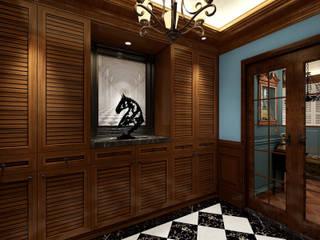 16坪英倫風情渡假屋 經典風格的走廊,走廊和樓梯 根據 西雅圖設計 古典風