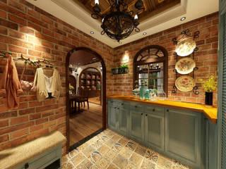 浮誇系古堡風 乡村风格的走廊,走廊和楼梯 根據 西雅圖設計 鄉村風