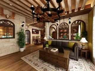 浮誇系古堡風 根據 西雅圖設計 鄉村風