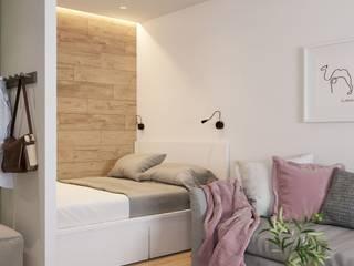 И однушечка может быть красивой Спальня в скандинавском стиле от Art Family Скандинавский