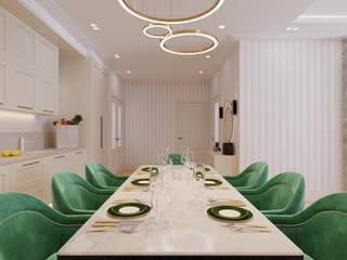 Кухня-гостиная в 3-комнатной квартире от Студия дизайна интерьеров и ремонта Алексея Выходца Классический