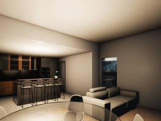 Apartamento Torres Novas Salas de estar modernas por Ao Cubo Moderno