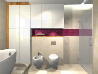 """Auszüge meiner Arbeit bei """"Nickel Design"""" Minimalistische Badezimmer von La mila Interior Design Minimalistisch"""