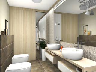 """Auszüge meiner Arbeit bei """"Nickel Design"""" Moderne Badezimmer von La mila Interior Design Modern"""