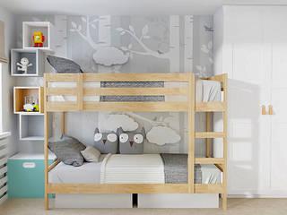 Ein kleines Raumprojekt für zwei Jungen im Alter von 2 und 6 Jahren. Moderne Kinderzimmer von La mila Interior Design Modern