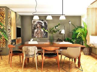 Eine Liste von Projektbeispielen mit sehr unterschiedlichen Stilen Tropische Wohnzimmer von La mila Interior Design Tropisch