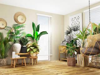 BOHO - Stil Ausgefallene Wohnzimmer von La mila Interior Design Ausgefallen