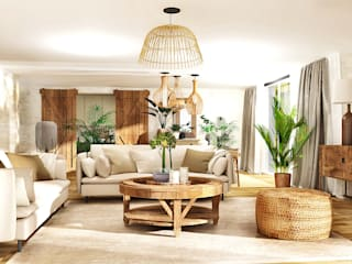 Ferienhaus für das ganze Jahr! Koloniale Wohnzimmer von La mila Interior Design Kolonial