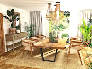 Ferienhaus für das ganze Jahr! Koloniale Esszimmer von La mila Interior Design Kolonial
