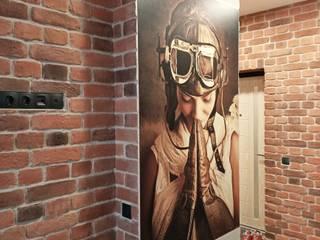 Квартира с мужским характером Коридор, прихожая и лестница в стиле лофт от Элла Юрик Лофт