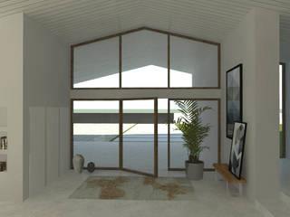 Casa de Campo Corredores, halls e escadas minimalistas por A78 Interiors Minimalista