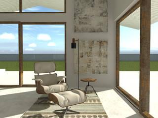 Casa de Campo Salas de estar minimalistas por A78 Interiors Minimalista