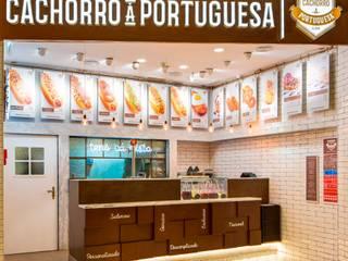 Cachorro à Portuguesa | Oeiras Parque Espaços de restauração industriais por A78 Interiors Industrial