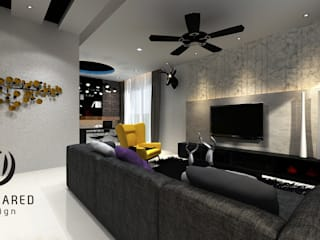 Proposed Concept Ideas for 2-Storey Terrace House at Tmn Bertam Ria Desquared Design Living room Plywood Multicolored