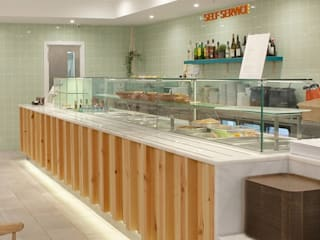 Restaurante Quentifrio Espaços de restauração escandinavos por A78 Interiors Escandinavo