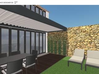 Projecto de Jardim Jardins modernos por Decodesign Moderno